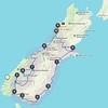 2018-02-17 - 02 NZ South Island road trip route
