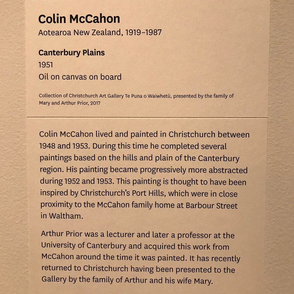 2018-03-06 - 36 Christchurch NZ art museum Caterbury Plains by Colin McCahon