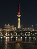 2018-02-15 - 31 Skytower at night in Auckland, NZ