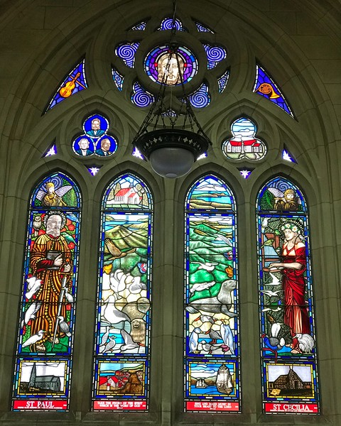 2018-02-19 - Saint Paul and Saint Cecilia in Saint Paul's Cathedral in Dunedin, NZjpg