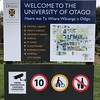 2018-02-18 - 10 University of Otago welcome sign in Dunedin, NZ