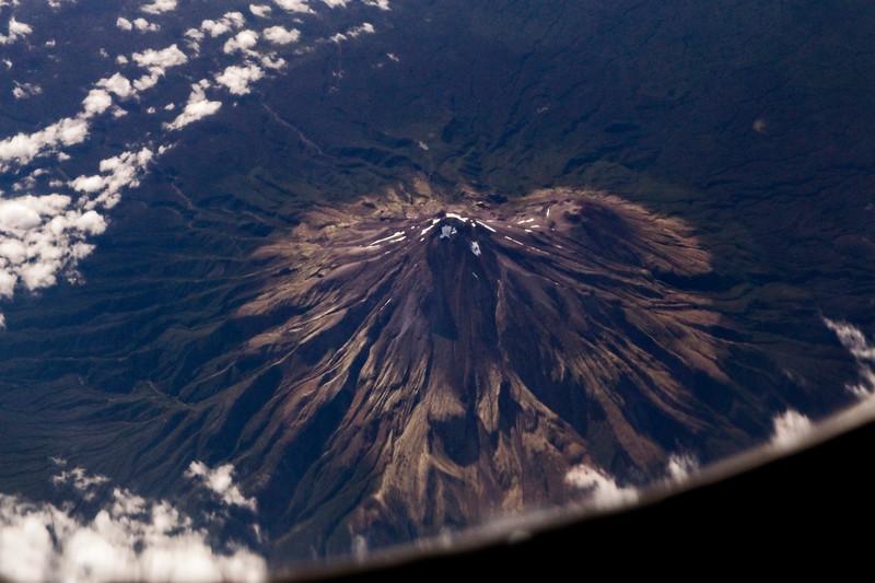 8,621 ft Mt Taranaki from 20,000 ft