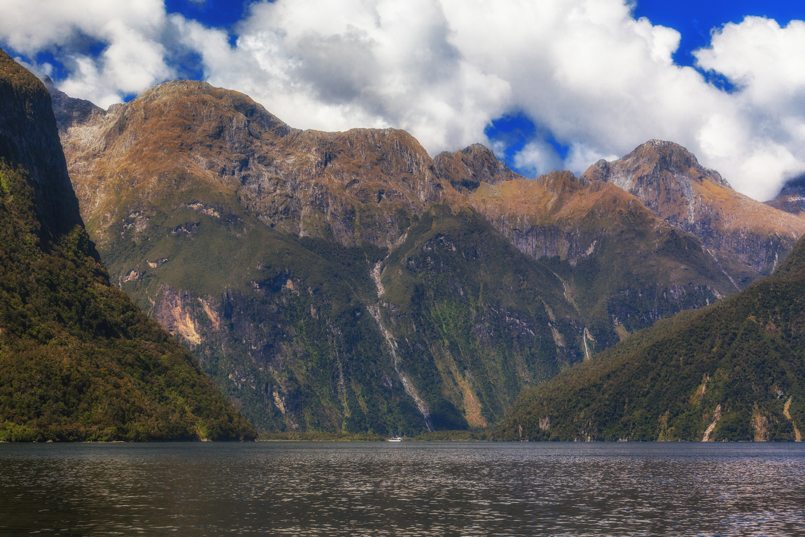 Milford Sound can sure make you feel small.