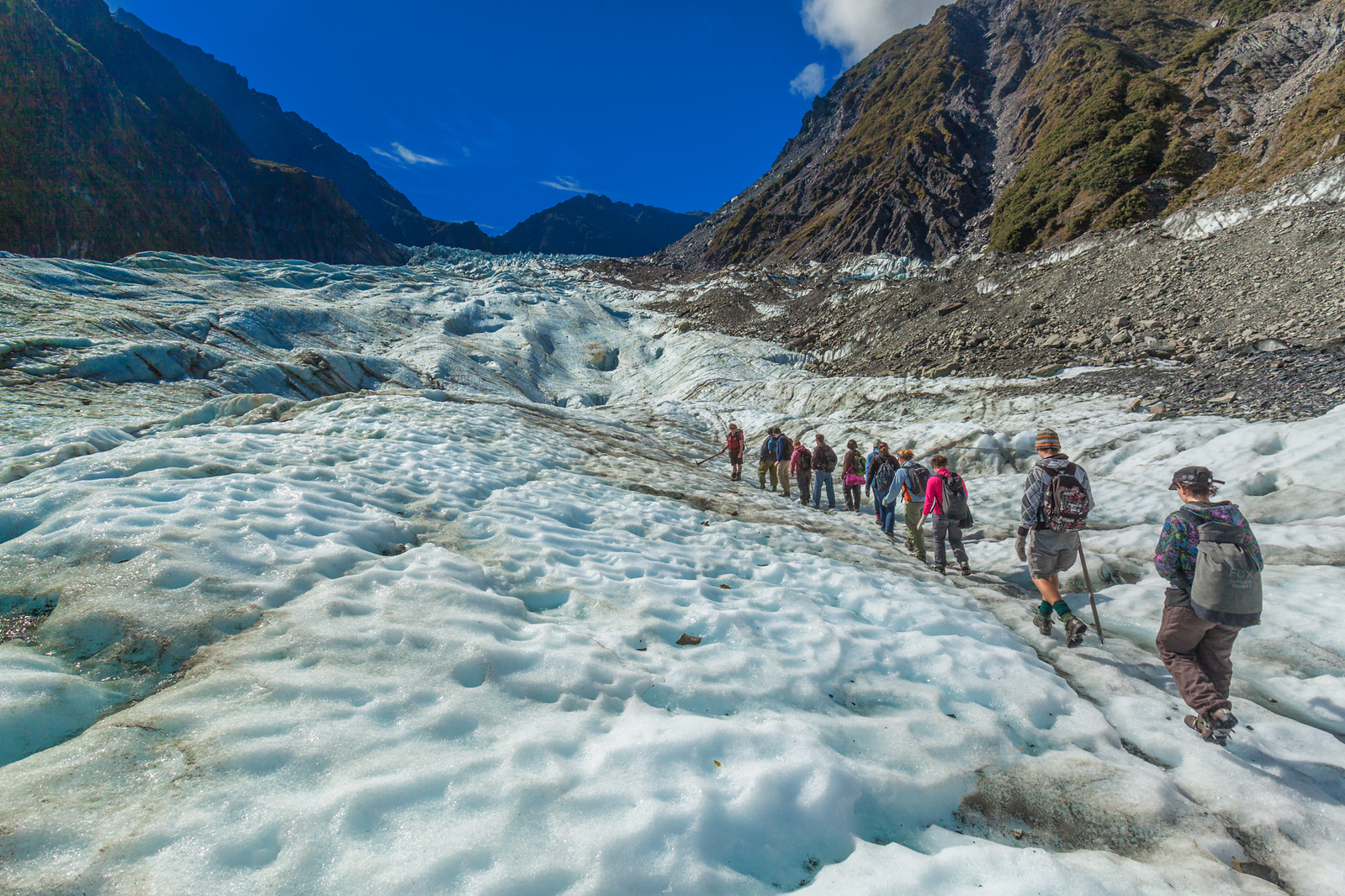 A long but beautiful walk up Fox Glacier.