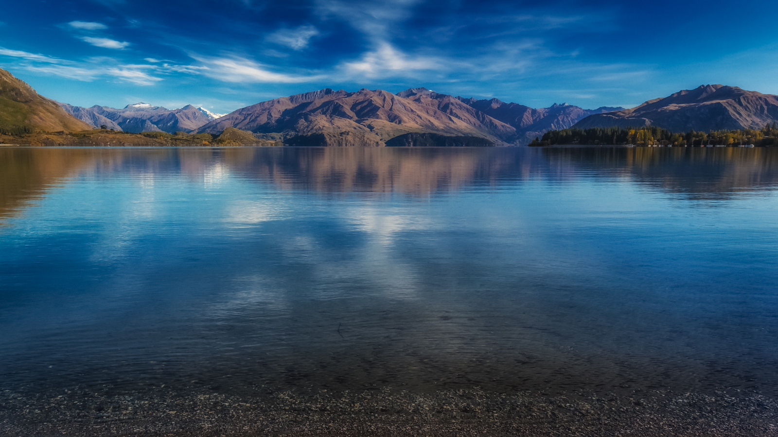 The Tranquil beauty of Lake Wanaka on the South Island of New Zealand.