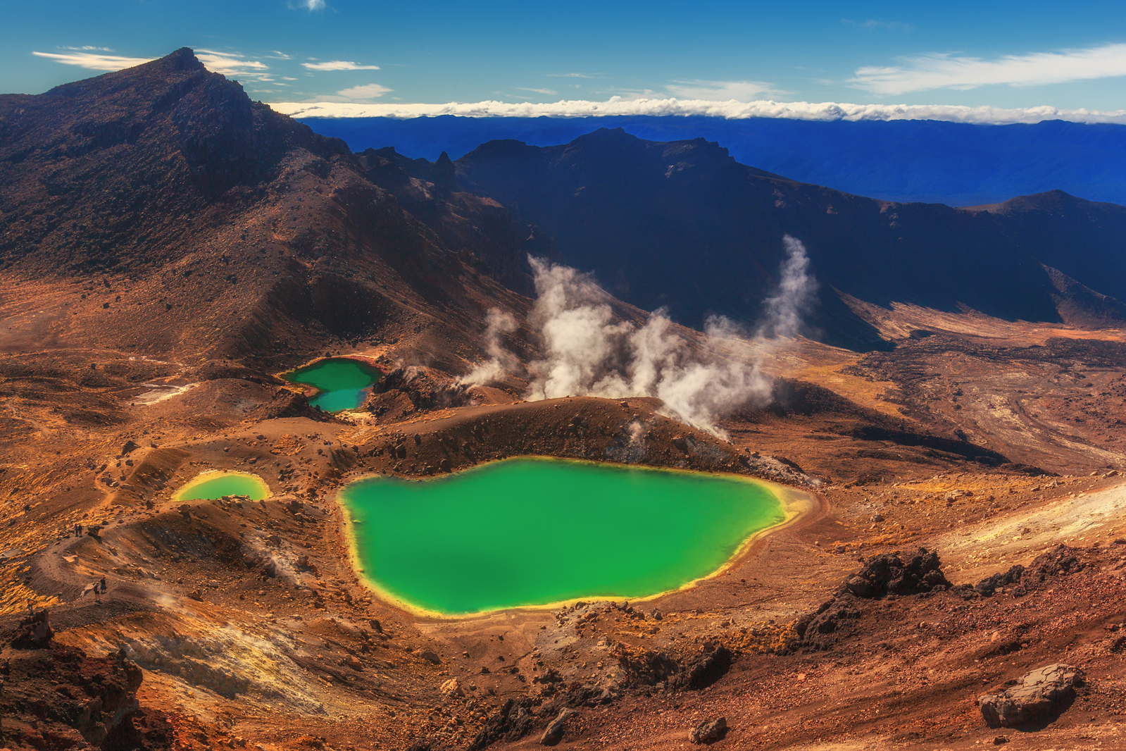 The harsh but beautiful landscape of the Tongariro Crossing on the North Island of New Zealand