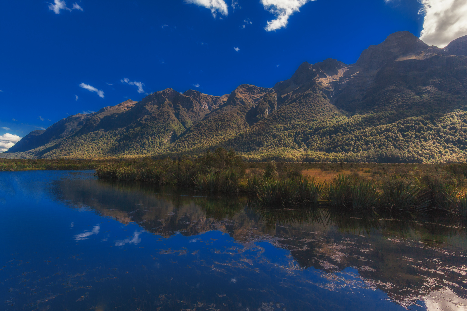 The Mirror lakes near Huka Falls, New Zealand