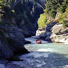 Shotover River and jet boat.