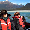 Robyn and Heather on the Dart River jet boat.