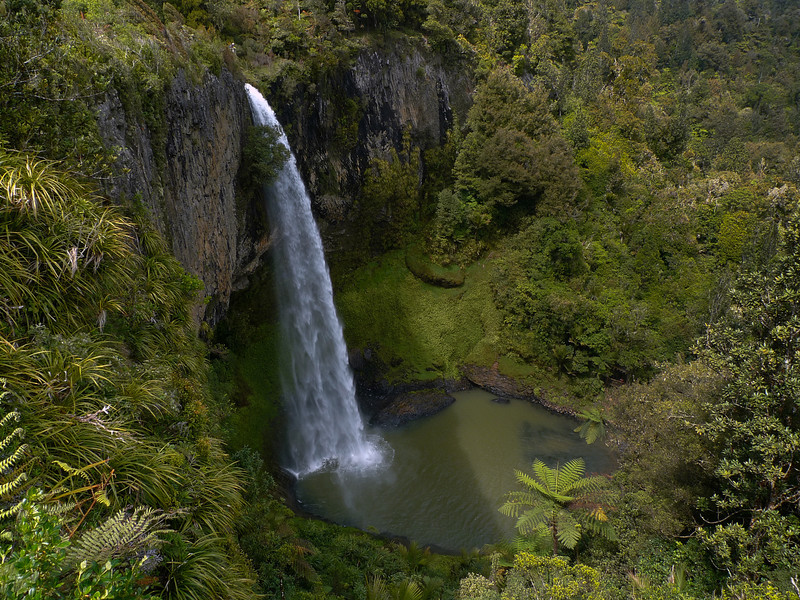 The Bridal Veil Falls near Raglan.
