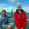 Rob and Mandy on the way to Waiheke Island 11/09
