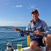 Rob enjoying a beer and fishing at Waiheke Island 11/09