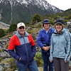 John, Robyn and Suzanne at Mt.Cook