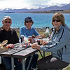 John, Robyn and Suzanne at Lake Tekapo, enjoying a picnic lunch.
