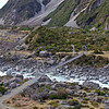 The first swing bridge on the Hooker Valley track at Mt.Cook.