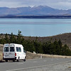 John and Suzannes van at Lake Pukaki.