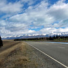 The back road from Tekapo to Mt.Cook via the Pukaki-Tekapo Canal and salmon farm.