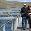 John and Suzanne at the salmon farm