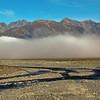 Morning fog on the Rangitata River on teh road to Erewhon