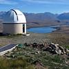 The Mt.John observatory at Tekapo. Lake Alexandrina in the background.