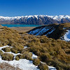 Lake Tekapo from the road up to Roundhill Skifield off Lilybank Road