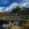 The Stocking Stream bridge on the Hooker Valley track.