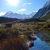 Mt.Cook & small tarn on Hooker Valley Track