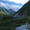 The 2nd swing bridge on the Hooker Valley track.