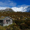 The Stocking Stream Shelter on the Hooker Valley track.