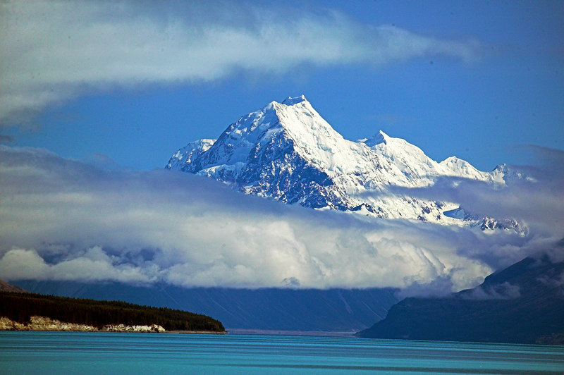 Mount Cook across Lake Pukaki