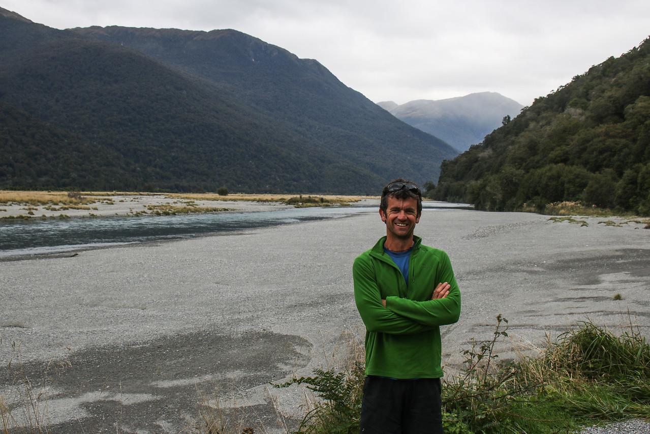 Dan at Makarora River