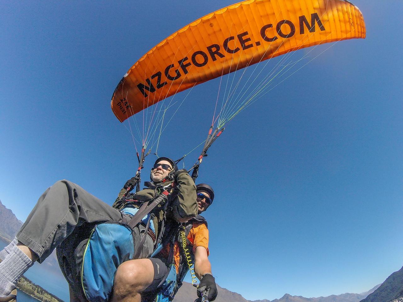 Paragliding above Queenstown