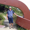 Russell at the start of the Rakiura Track. We walked as far as Maori Bay.