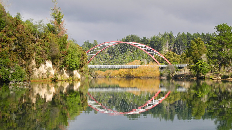Waikato River bridge near Taupo