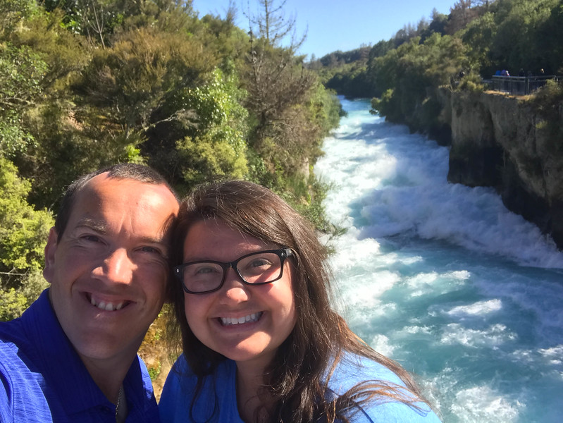 huka falls north island