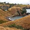 Coastal walk Waiheke Island, looking back at where we have walked. 03-2010