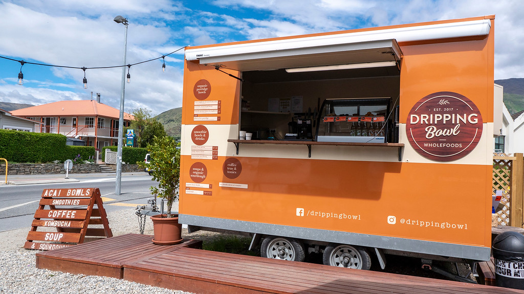 The Dripping Bowl food trailer in Wanaka New Zealand