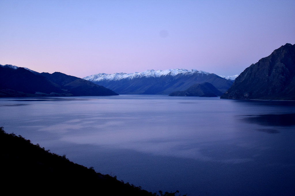 Lake Hawea New Zealand Sunset
