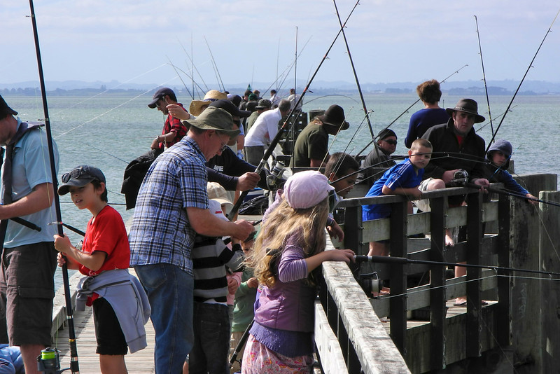 Fishing at Cornwallis Wharf