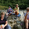 Candy, John, Marieka and Mary. Picnic lunch by the river as you can see!