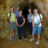 Marieka, John, Candy, Mary and Robyn in one ofthe gold mines on the Windows Walk.
