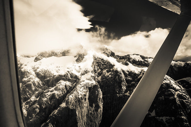 Black and White Over the Mountain