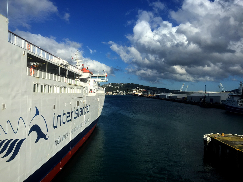 The Interislander ferry from Wellington to Picton, at the Wellington terminal, New Zealand