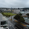 View of Wellington from the Copthorne Hotel.  Notice the wet streets.