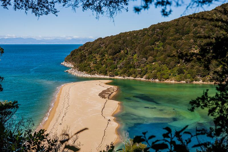 A hidden beach along the walk in Abel Tasman National Park, New Zealand