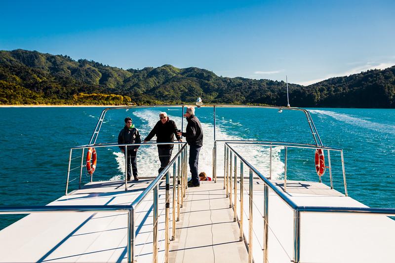 Sea shuttle inside Abel Tasman National Park, New Zealand