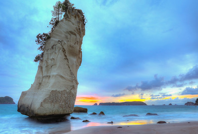 Cathedral Cove Sunrise Full Frame