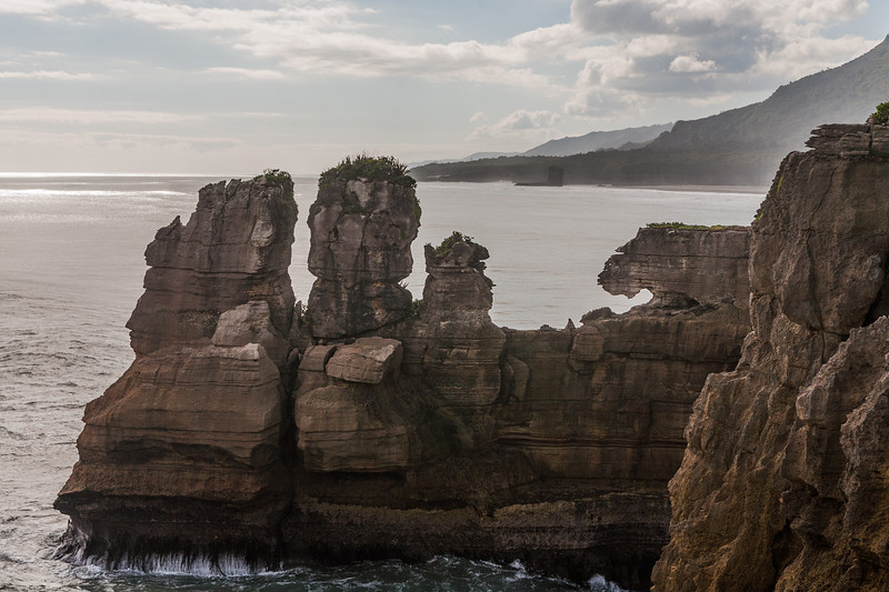 Pancake rocks at Punakaiki on the west coast of the south island, New Zealand