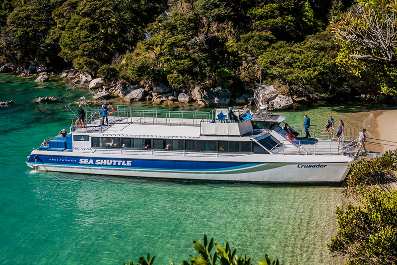 Sea shuttle at Abel Tasman National Park, New Zealand