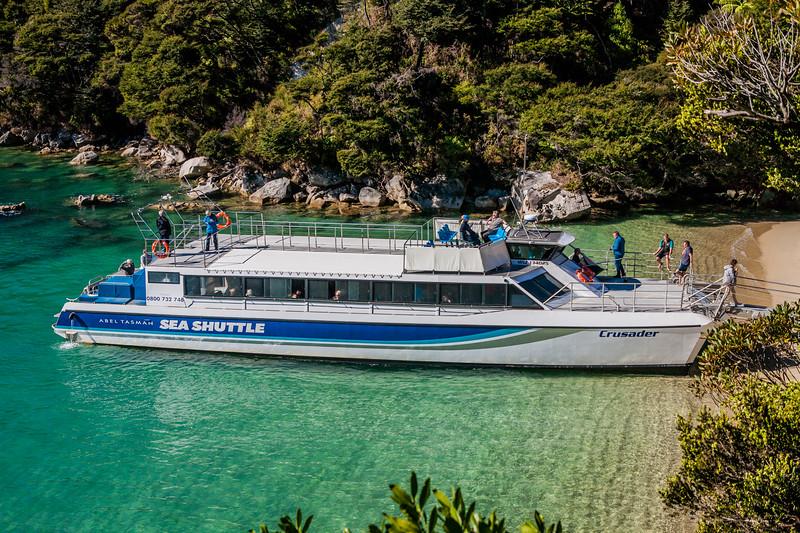 Sea shuttle at Abel Tasman National Park, New Zealand